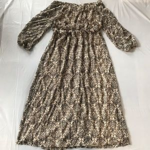 Tacera Maxi Dress size Large Off Shoulders